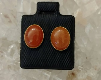 CLEARANCE *Carnelian Stud Earrings