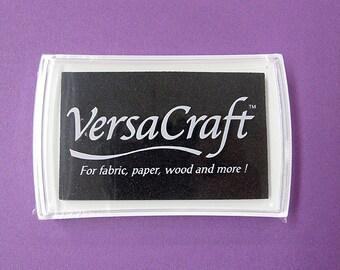 VersaCraft Ink , Real Black, VK-182, Multipurpose water-based pigment ink, fabric, paper, wood, porcelain, leather