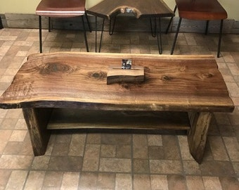 Etonnant BIG Beautiful Black Walnut Slab Coffee Table