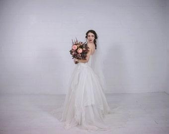 Floral Organza Wedding Dress