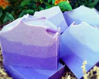 Purple Ombre Coconut Milk Soap Scented With Love Spell