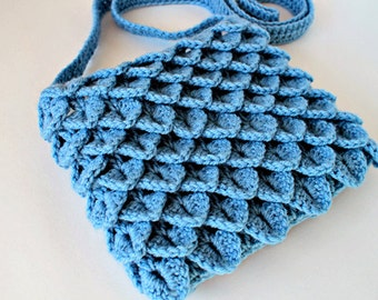 Crochet Pattern  - Crochet Crocodile Stitch Bag (Pattern No. 017) - INSTANT DIGITAL DOWNLOAD