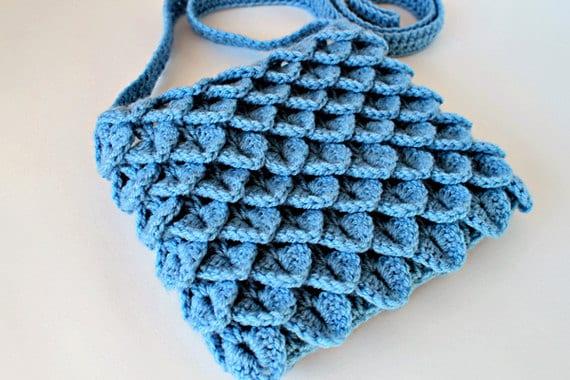 Crochet Pattern Crochet Crocodile Stitch Bag Pattern No.
