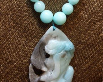 Goddess in the Moonlit Grotto Necklace