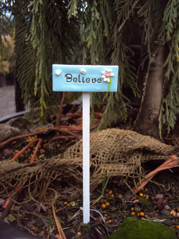Fairy Garden Miniature Sign Fairies Believe