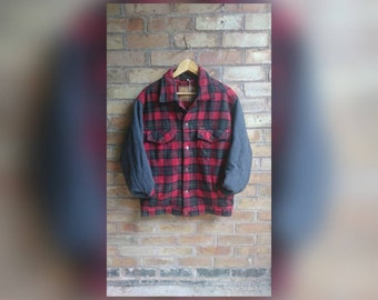 Vintage wrangler checked jacket