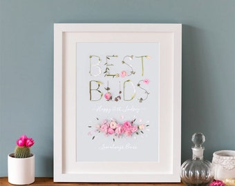 Personalised Best Buds Print | Gift for Best Friends | BFF | Best Friends Forever