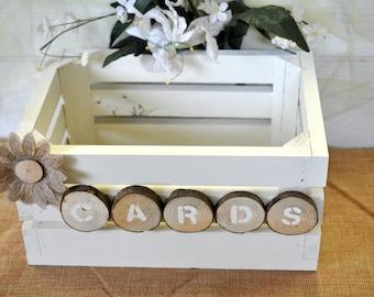 wedding card box rustic wedding card holder wedding card