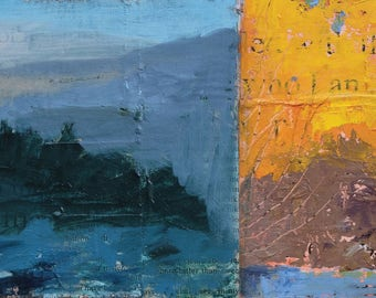 Of Beginnings ~ Original Contemporary Abstract Landscape Painting