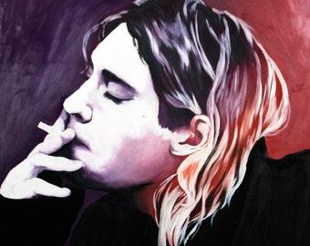 Kurt Cobain Painting - Original