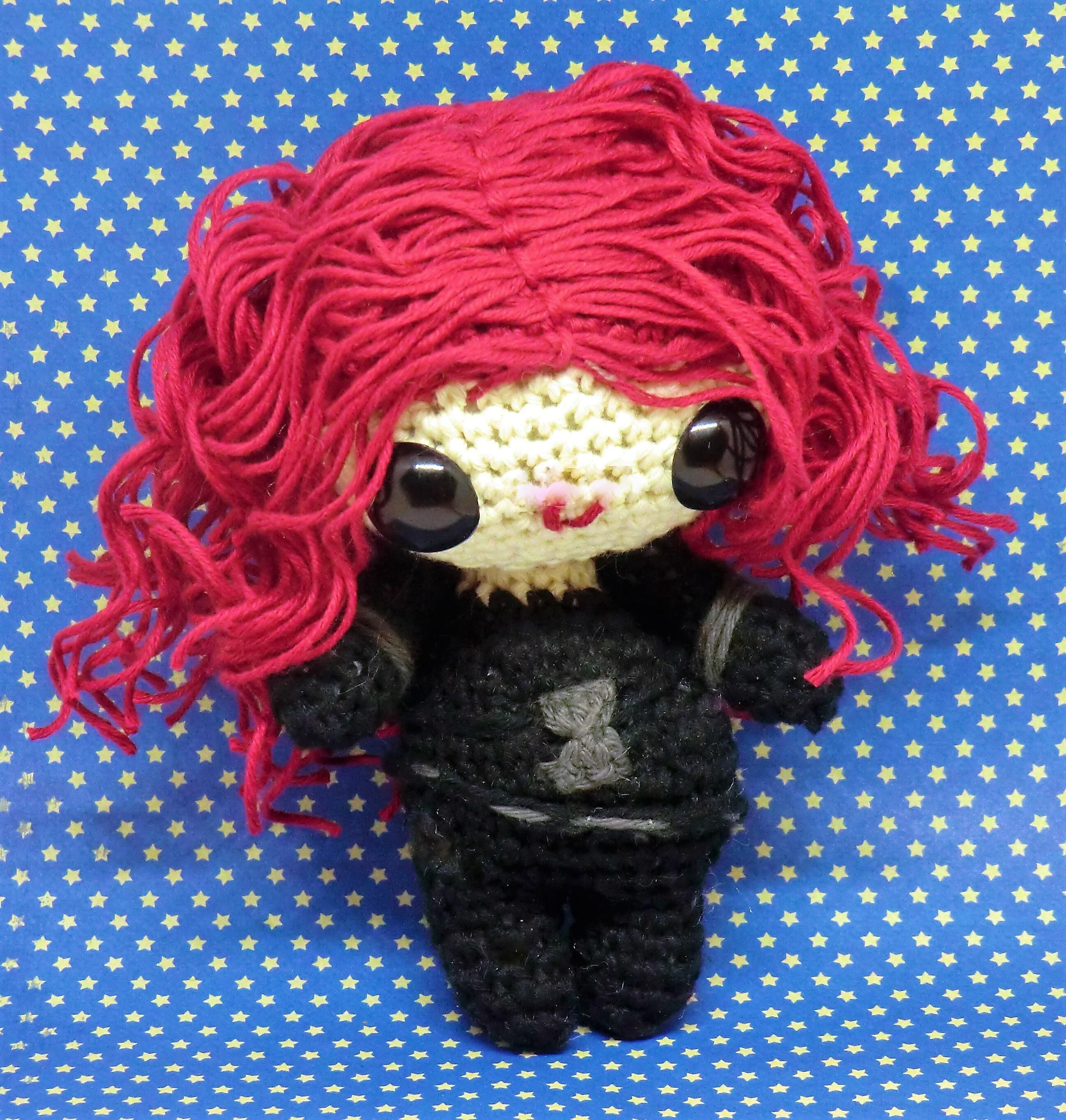 Black Widow Amigurumi Style Pdf Crochet Pattern Inspired By Marvel