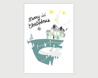 CHRISTMAS CARD ' MERRY CHRISTMAS '-Christmas-Christmas-new year-bestewensen-handlettering