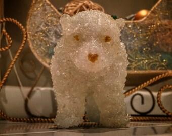 Polar Bear Sea Glass Figurine