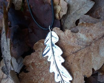 Oak Leaf Pendant in Sterling Silver. Botanical Jewellery. Unique Piece Handmade