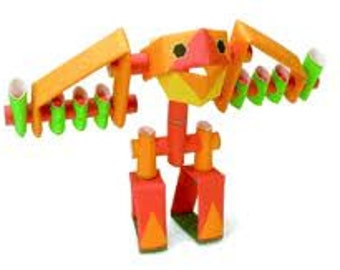 Piperoids - Jet Jonathan robot Unique paper craft robot kit
