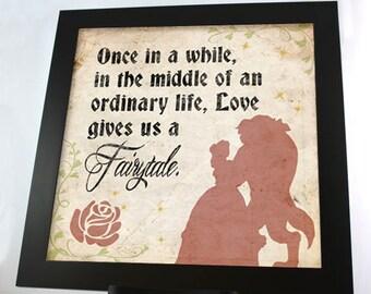 Love Gives Us A Fairytale Belle 12 x 12 PRINT - DIGITAL FILE