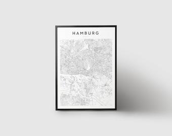 Hamburg Map Print
