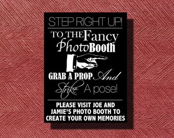 Wedding Reception Photo Booth Sign or Poster DIY Print-Ready