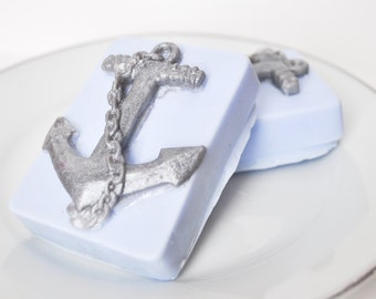 Anchor Soap give for him dad gift - Fathers day gift - Open Waters ocean scent - sailor soap - nautical soap - man soap