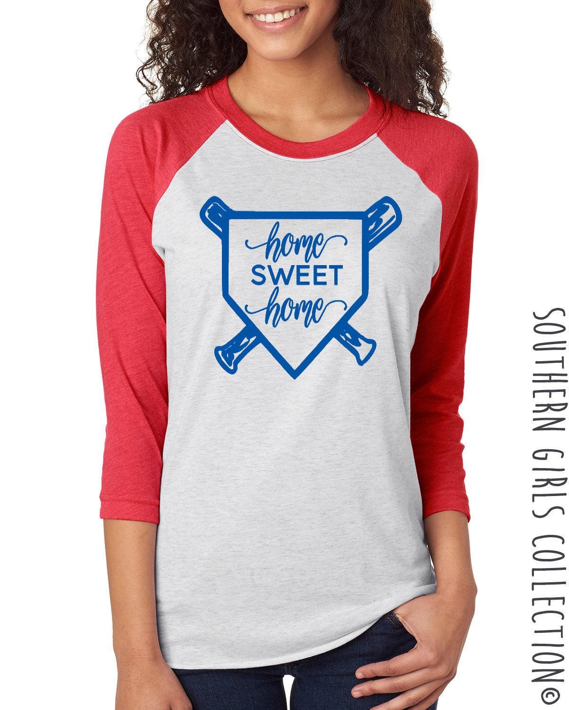 Home Sweet Home Baseball Raglan Shirt - Home Sweet Home Baseball ...