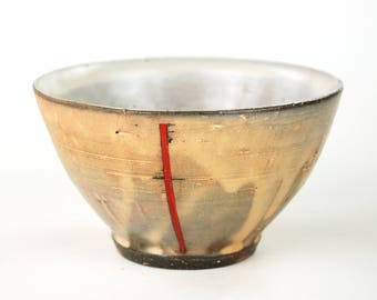 Side Bowl with Red Stripe