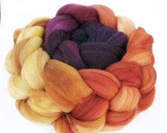 "Superwash Merino Wool Spinning Fiber Gradient, 4 oz ""Petal"""