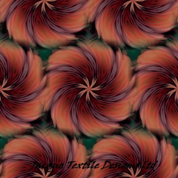 Abstract Flower ART Quilting Cotton Fabric Panel Artist Made Fiber Art  Home Decor Fabric