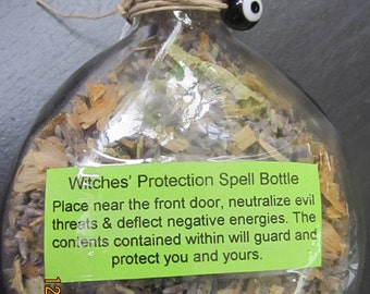 Protection Bottle with Evil Eye
