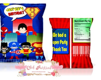 Super heroes chip bag, super heroes bag, super heroes chips