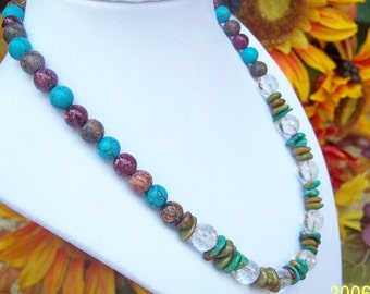 Turquoise and Jasper Beaded Necklace