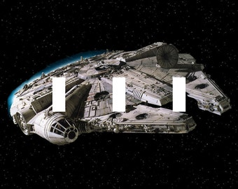 Millennium Falcon Star Wars Triple Light Switch Plate Cover Han Solo Chewbacca
