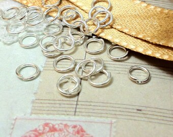 7 mm Silver Plated Jump Rings (.mmsn)