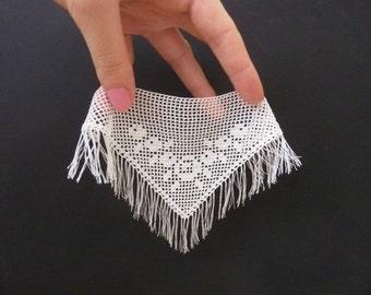 "Dollhouse miniature crochet shawl ""Roses"" for dollhouse doll"