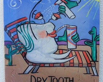 Dry Tooth! Funny souvenir tile