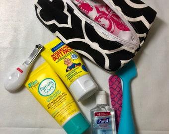 Diaper bag toiletry bag, cosmetic bag