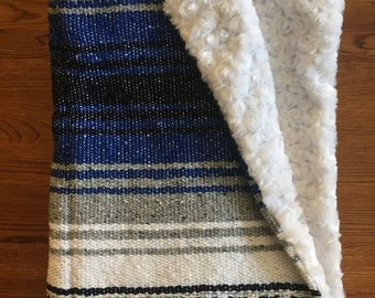 Mexican Baby Blanket- Blue