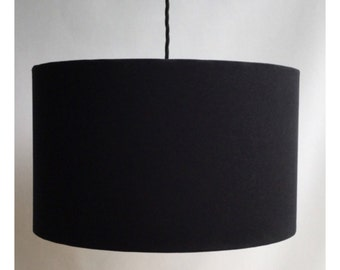 40cm Black Drum Lampshade LightShade With Or Without Diffuser