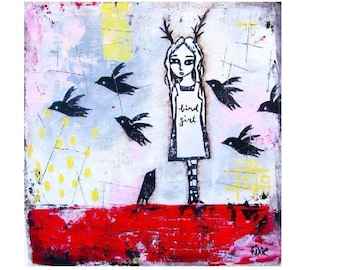 Bird Girl - Giclee Art Print