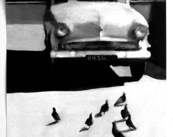 Under the sun / big print -  BLACK AND WHITE print art - Landscape & Scenic print-wall decoration