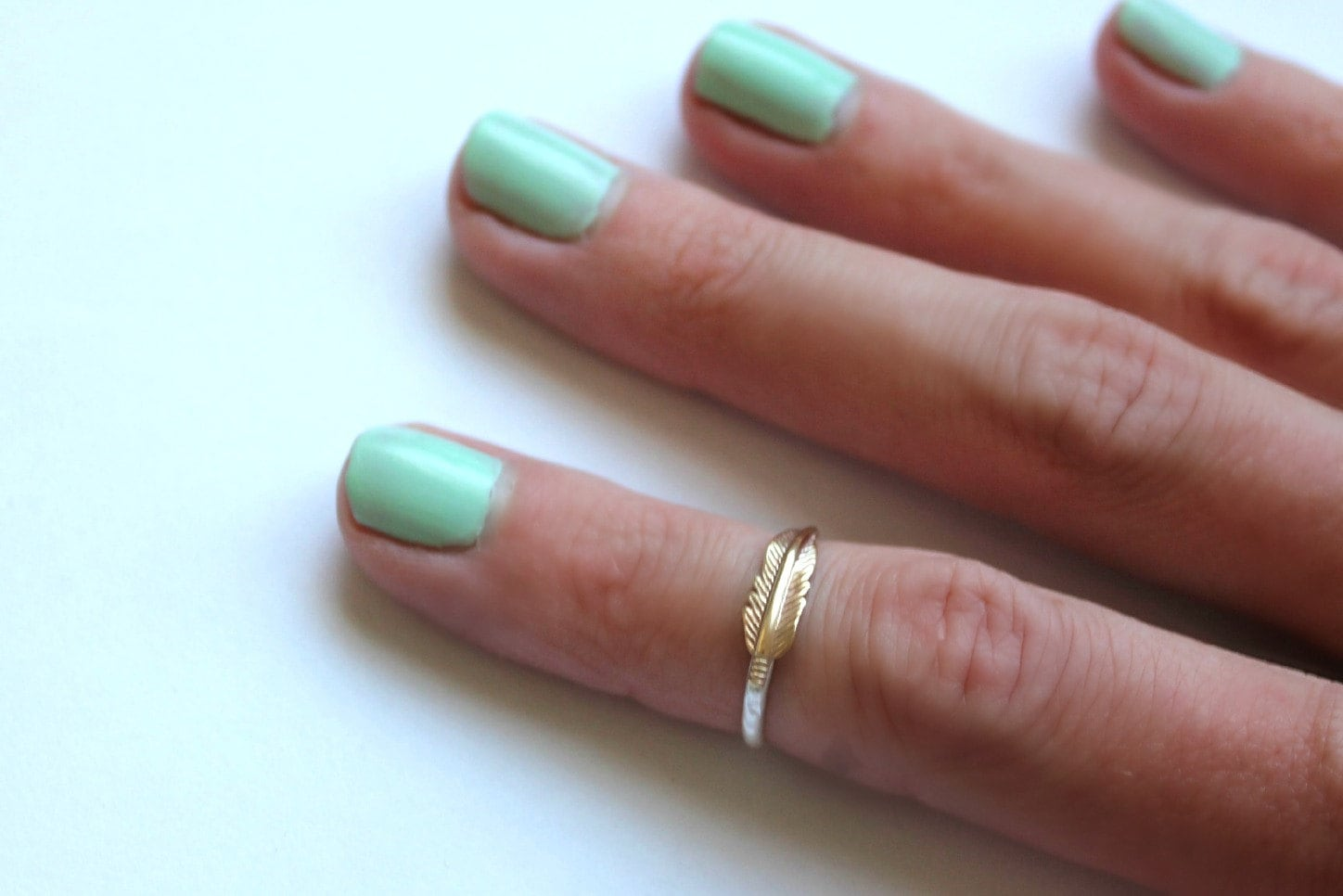Sterling silver knuckle ring feather ring midi ring zoom nvjuhfo Image collections