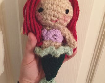Ariel crocheted doll