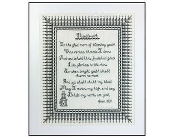 Large Needlework Poem
