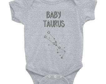 Baby Taurus Onesie / Zodiac Astrology Birthday Cute Horoscope Star Sign Infant Bodysuit / Taurus Baby Gift / Taurus Baby Shower