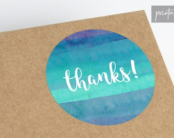Printable Thank You Stickers  - Etsy Thank You Printable - Small Business Thank You Stickers - Package Stickers - Etsy Printable Stickers