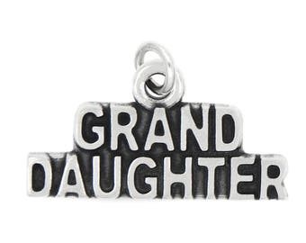 Sterling Silver Granddaughter Word Charm