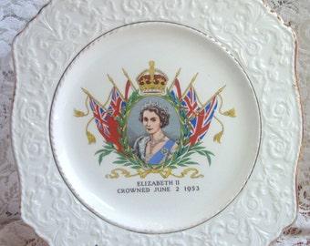 Royal Winton Queen Elizabeth II plate - Coronation  JUNE 2, 1953