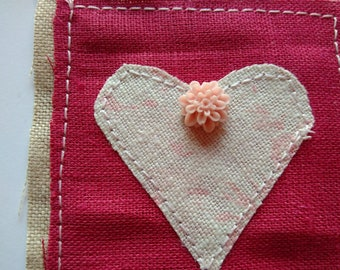 Faded Floral Heart Geetngs card