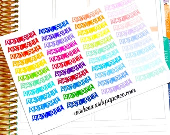 Day Off Stickers - Day Off Banners - Planner Stickers