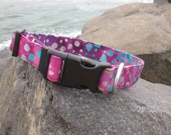 Purple Watercolor Dog Collar