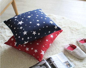 Stars Oxford Cotton Fabric, Red Star Fabric, Navy Star Fabric - Fabric By the Yard 96491